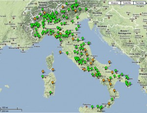 Mapa Parques Naturales de Italia
