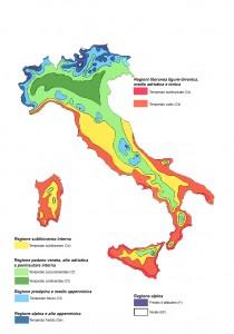 Mapa del clima en Italia