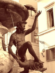 Fontana delle Tartarughe en el gueto judío de Roma (Foto Flickr de j. kunst )