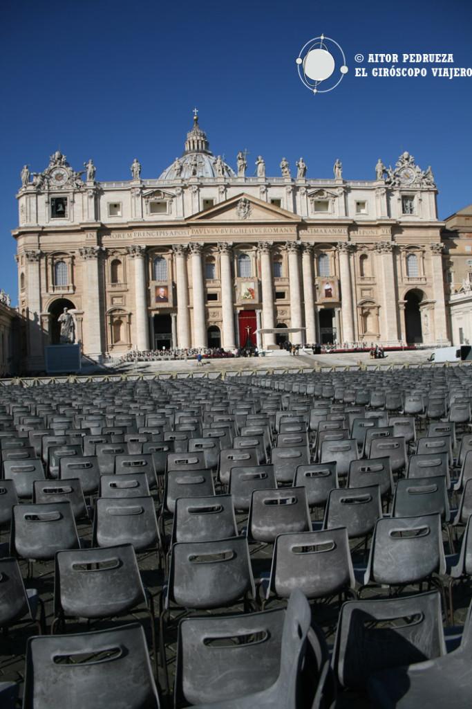 La Plaza de San Pedro el día de Audiencia del Papa