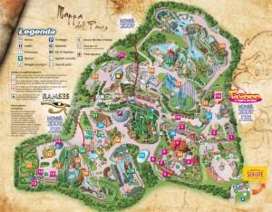 Mapa del Parque de atracciones Gardaland