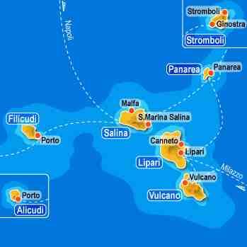 Como llegar a las Islas Eolias