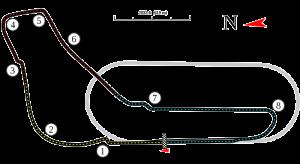 Mapa del circuito de Monza