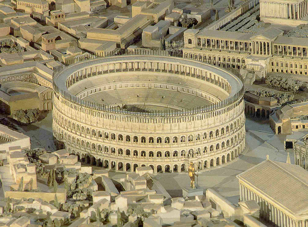 Recreación virtual del Coliseo de Roma