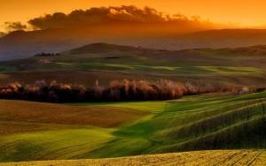 Foto de la campiña de Toscana