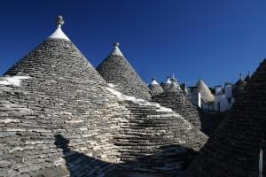 Los techos cónicos de los Trulli de Alberobello