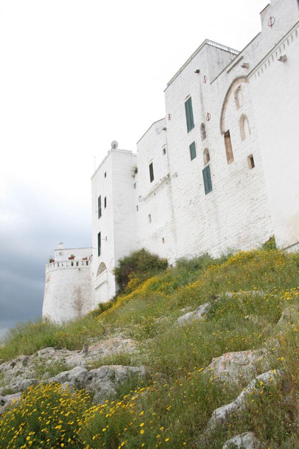 Fachadas de casas del recinto de murallas de Ostuni