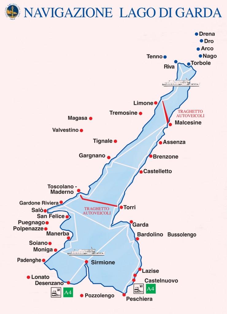 Ferries del lago de Garda