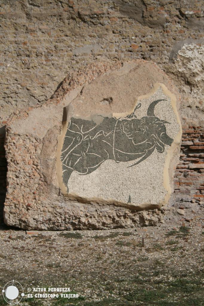 Restos de la rica ornamentación de las Termas de Caracalla