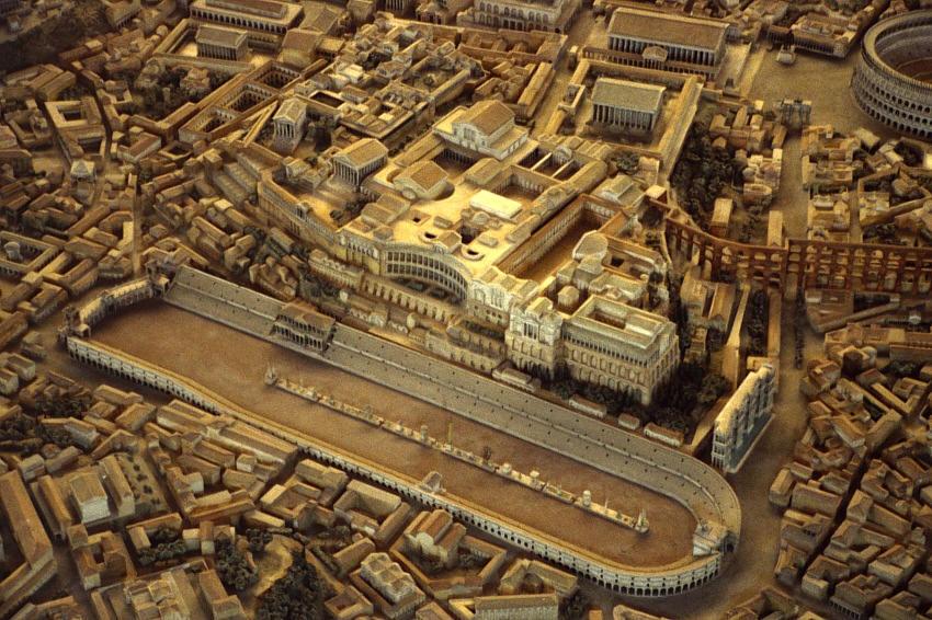 Recreación virtual del Circo Máximo de Roma