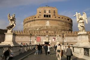 Punto de información turística en Castel Sant'Angelo de Roma (foto Flickr de David Wilmot )