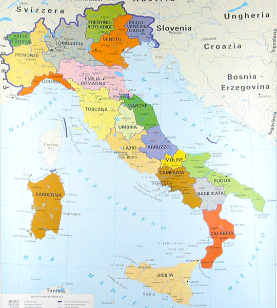 Mapa De Italia Fisico.Mapas De Italia Mapa Fisico Politico Y Regiones De Italia