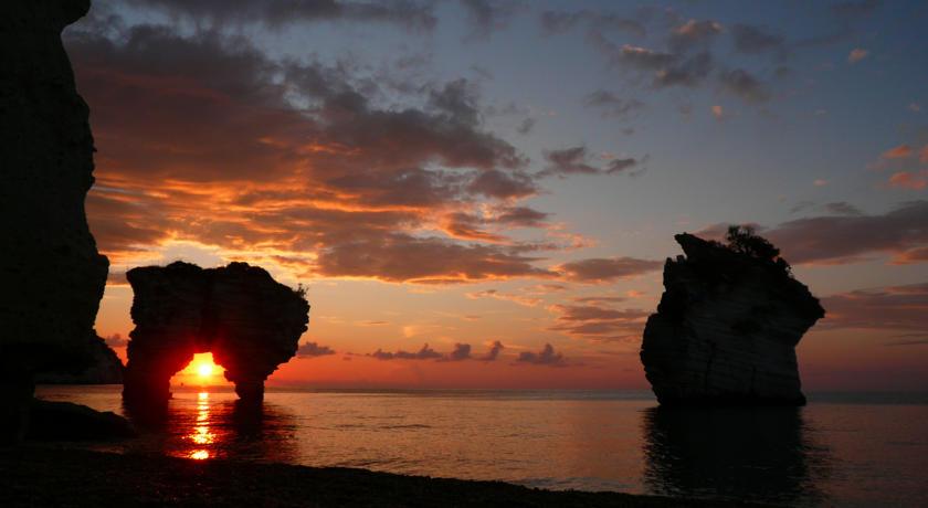 Playa de Bahía delle Zagare en la región de Puglia