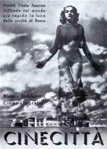 Cartel fascista de Cinecitta