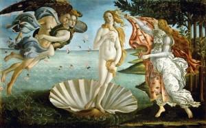 Nacimiento de Venus de Botticelli