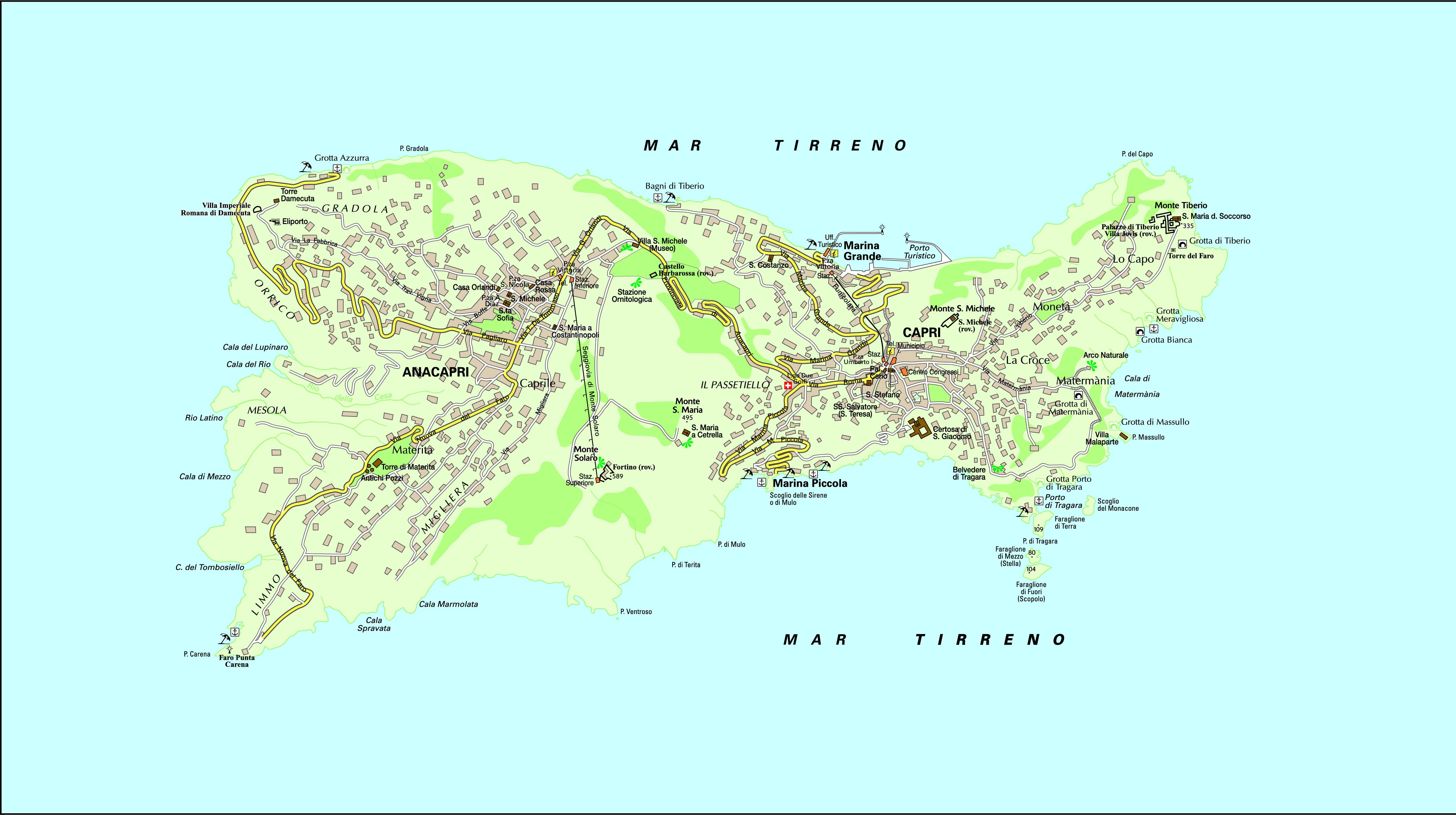 capri italia mapa capri mapa   Guía Blog Italia capri italia mapa