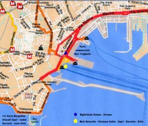 Salidas de ferries del puerto de Nápoles hacia Capri