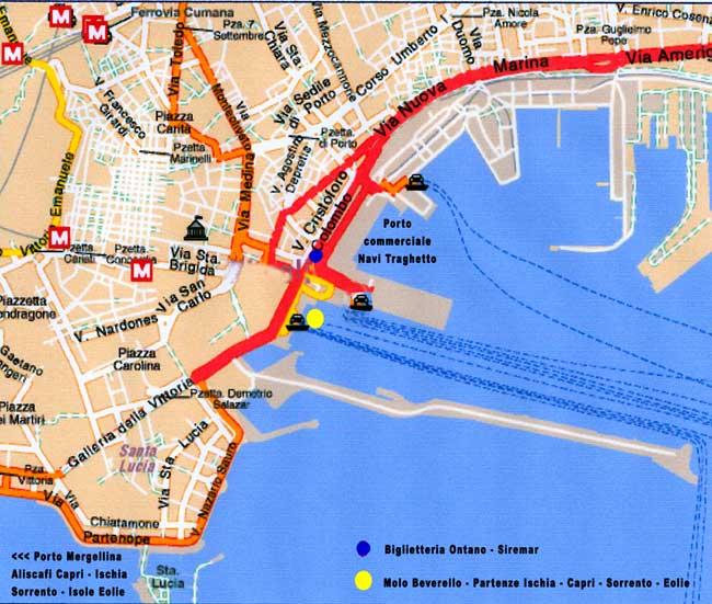 Mapa Turistico De Napoles.Como Llegar A Capri Guia Blog Italia
