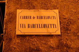 Placa en catalán en las calles de Alghero