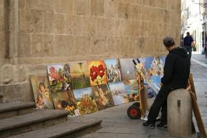 Cuadros en las calles de Alghero