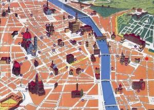 Plano 3d monumentos de Florencia