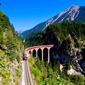 Línea ferroviaria de Albula (Foto Flickr de stefanrechsteiner)