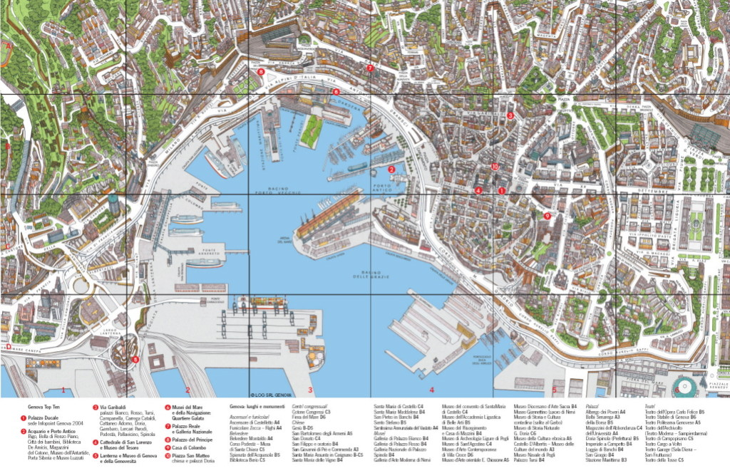 Mapa de la ciudad de Génova