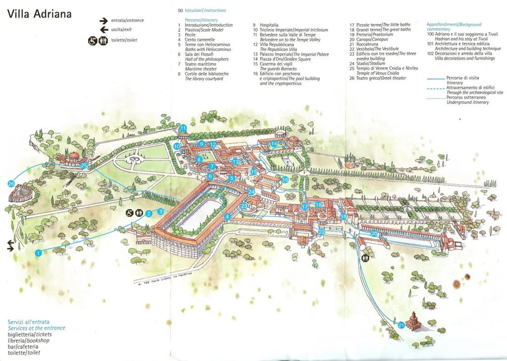 Mapa de Villa Adriana