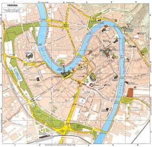Mapa del centro de Verona
