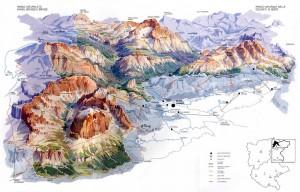 Mapa de Dolomitas de Ampezzo