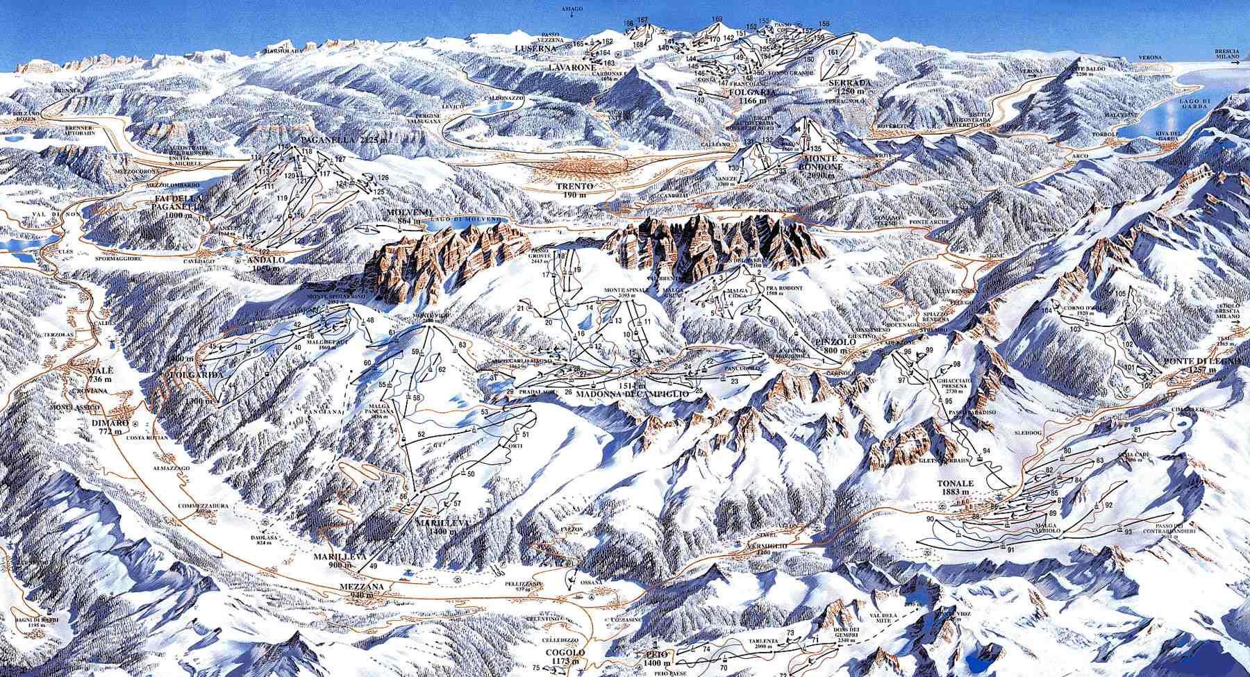 Mapas de los Dolomitas   Guía Blog Italia
