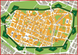 Mapa del centro de Lucca