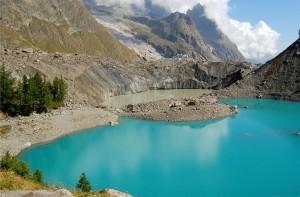 Lago Miaga en el Valle de Aosta