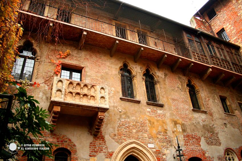 Balcón de la casa de Julieta en Verona