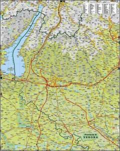 Mapa para llegar a Verona