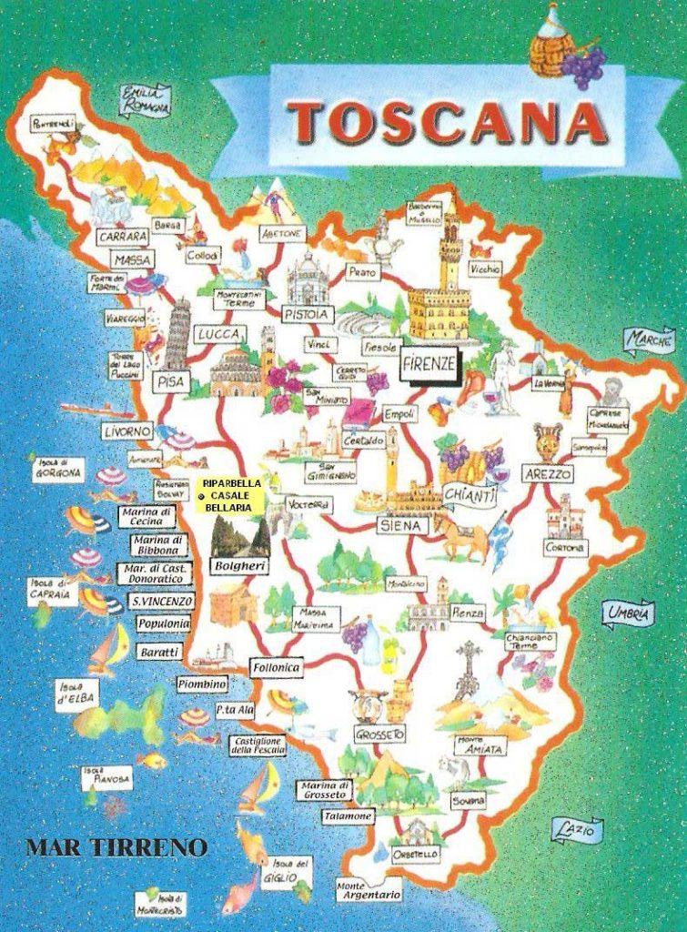 Matrimonio En Toscana : Mapas planos y callejeros de toscana guía italia