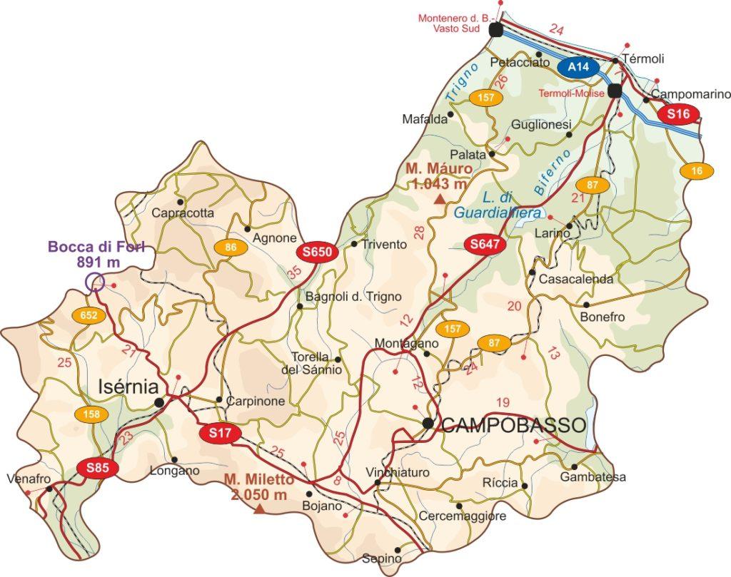 Mapa de Molise