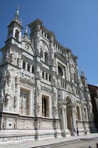 Fachada de la Certosa de Pavía