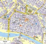 Mapa, plano y callejero de Pavía