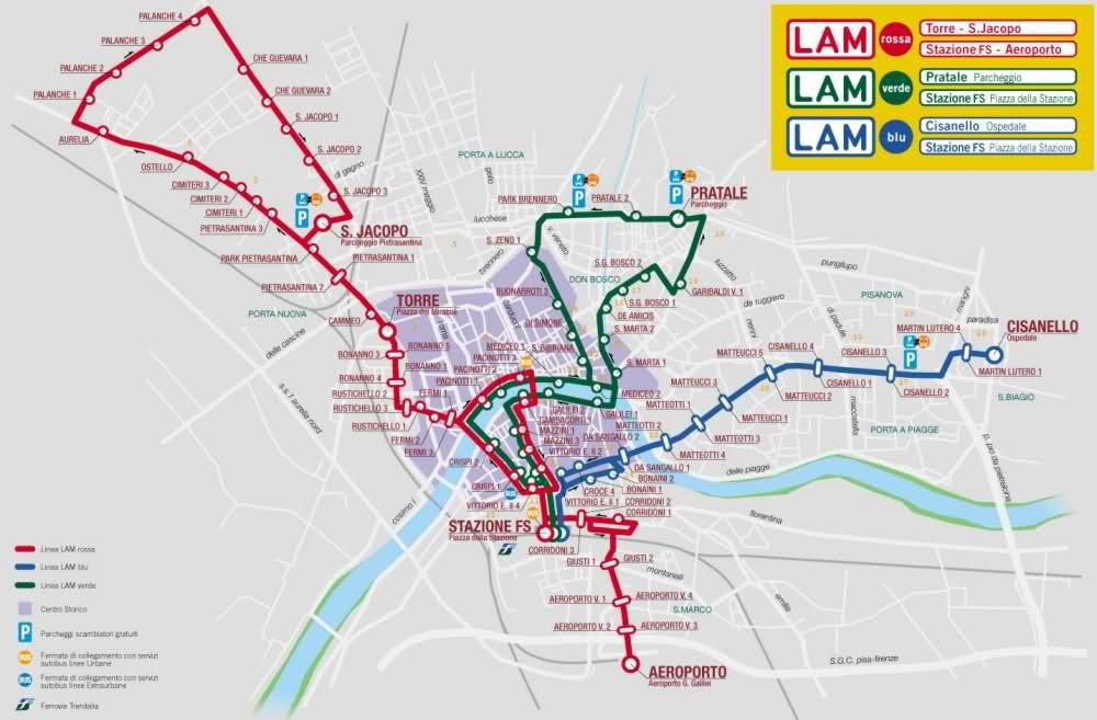 Líneas de autobuses urbanos de Pisa