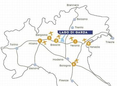 Aeropuertos cerca del Lago de Garda