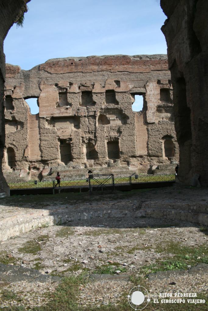 Vista del Frigidario de las Termas de Caracalla