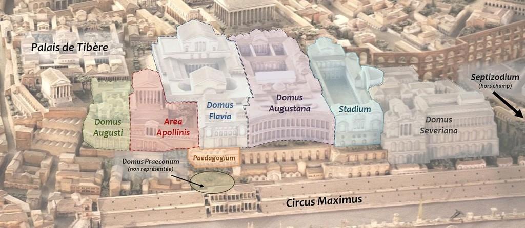 Reconstrucción de los palacios imperiales del Palatino