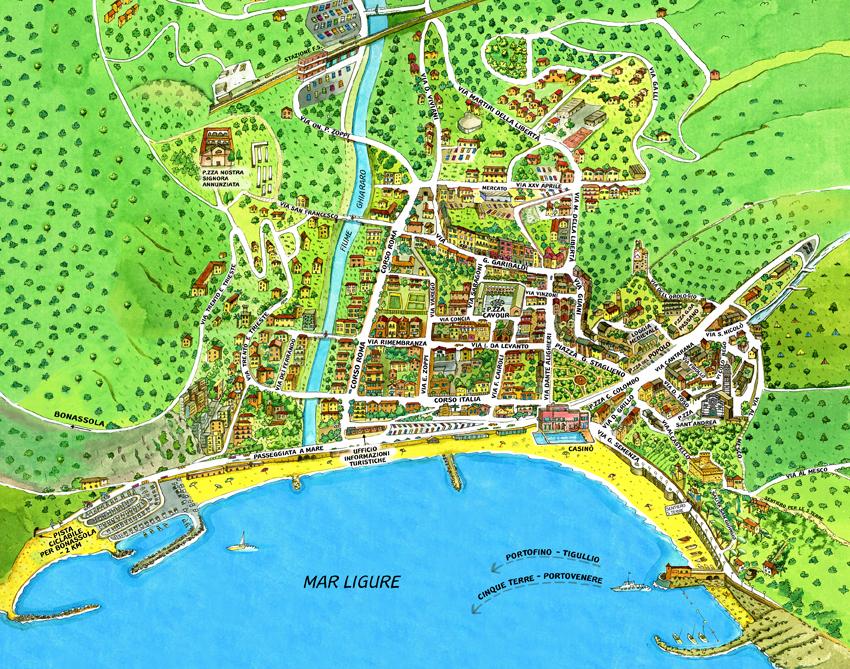 Mapa turístico de Levanto