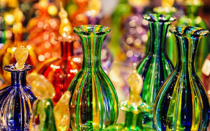 Algunas piezas confeccionadas con cristal de Murano