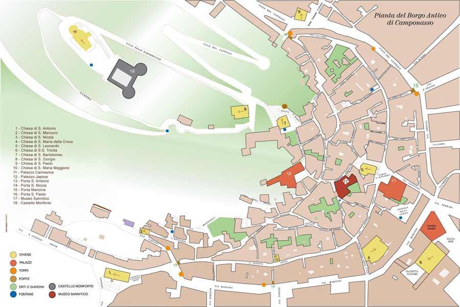 Mapa de Campobasso