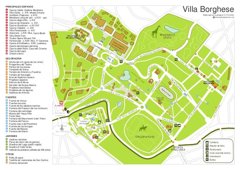 Mapa de Villa Borghese