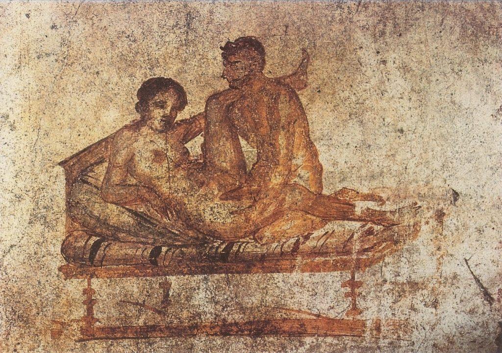 Escena del Lupanar de Pompeya