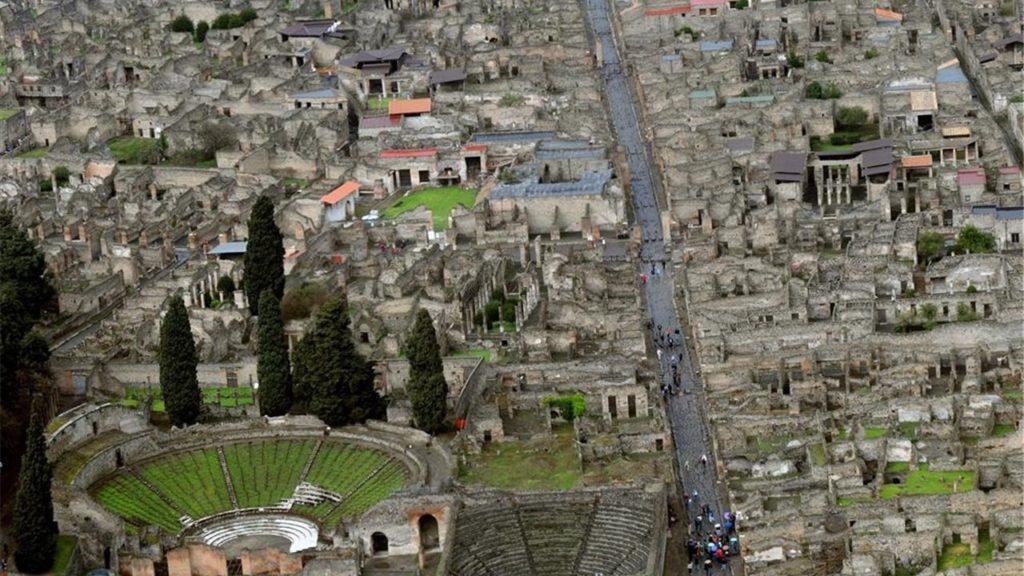 Vista del yacimiento de Pompeya