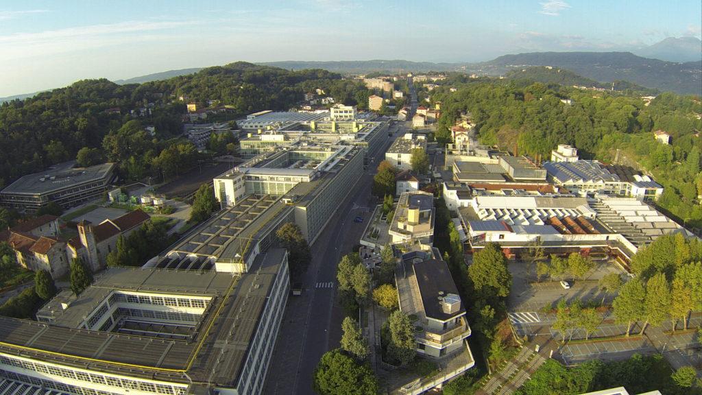 El complejo de Edificios de Olivetti en Ivrea